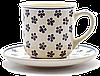 Чашка 0,25L с блюдцем  Вlue Florets