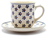 Чашка 0,25L с блюдцем  Вlue Florets, фото 1