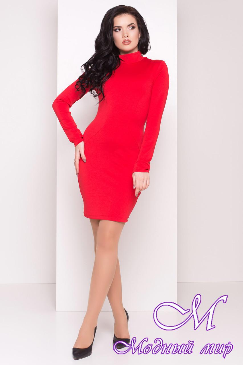 Женское облегающее красное платье (р. S, M, L) арт. Терция - 7070