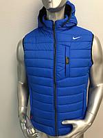 Мужская жилетка Nike из плащевки на синтепоне, жилетка осенняя Найк