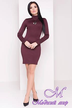 Женское короткое бордовое платье (р. S, M, L) арт. Терция - 6972, фото 2