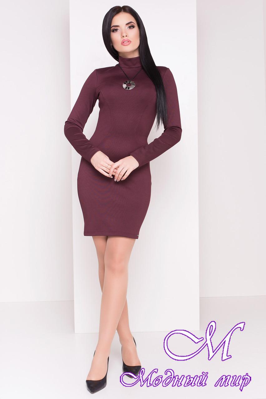 Женское короткое бордовое платье (р. S, M, L) арт. Терция - 6972