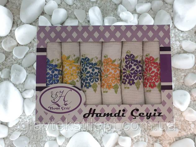 Подарунковий набір рушників 30*50 Hamdi (6 шт)Туреччина, фото 2