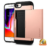 Чехол Spigen для iPhone 8 / 7 Slim Armor CS, Blush Gold, фото 1
