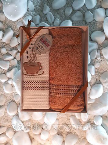 Подарочный набор полотенец 50*70 Turkiz (2 шт)Турция, фото 2