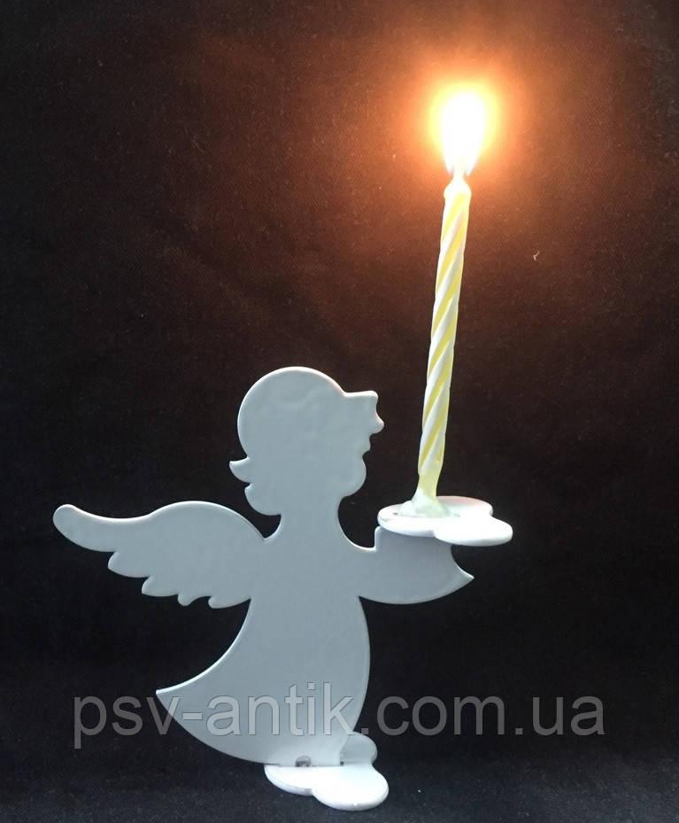 Подсвечник-ангел из металла