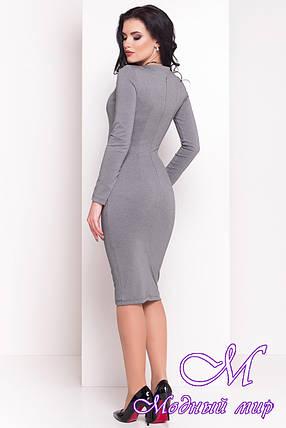 Женское серое платье с декольте (р. S, M, L) арт. Альтера - 6979, фото 2