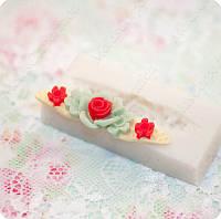 Силиконовый молд на цветы, основа для заколки, для полимерной глины, мастики.