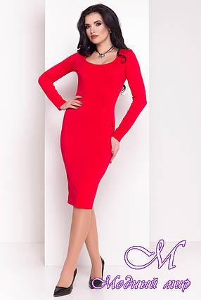 Женское красное платье с декольте (р. S, M, L) арт. Альтера - 6999, фото 2