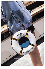 Сумочка спасательный круг белая 207-20, фото 3