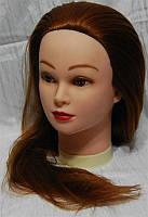 Учебная голова-манекен с искусственным термостойким волосам HT30B-MAROON YRE-80-HT30B YRE