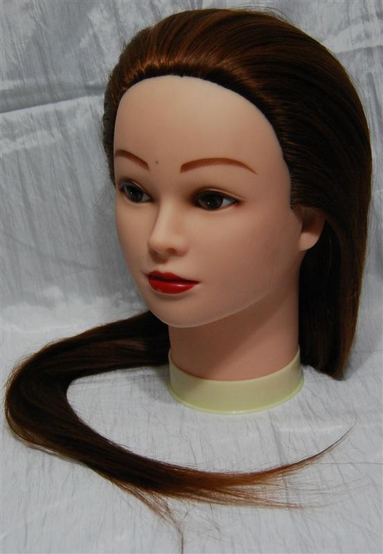 Учебная голова-манекен с искусственным термоволосом HT30-AIMOND COLOR YRE-80-HT30