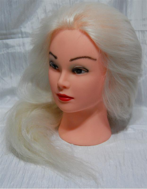 Голова учебная с натуральными волосами YRE-4-519RW