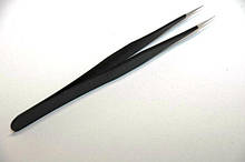 Пинцет для наращивания ресниц прямой в чехле PNC-12, пинцеты YRE, все наращивания ресниц