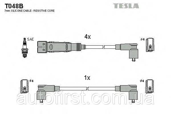 Комплект проводов зажигания Tesla T048B Seat,VW
