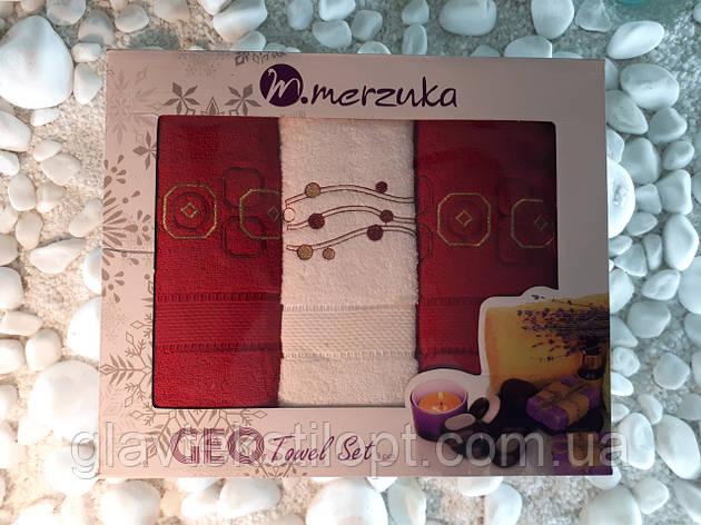 Подарунковий набір рушників Merzuka Туреччина (3 шт), фото 2