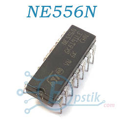 NE556N, двухканальный таймер, DIP14