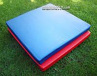 Мат детский гимнастический, спортивный из кожвинила OSPORT 1м х 1м толщина 10см (FI-0013)