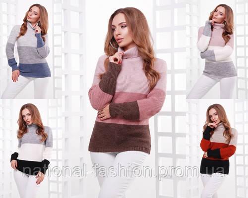 Вязаный женский свитер №145 (р.44-50)