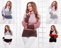 Вязаный женский свитер №145 (р.44-50), фото 1