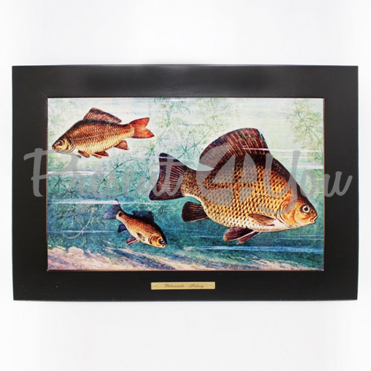 Панно настенное «Рыболовство.Караси»,38х28/20х30 см (263-6003B)