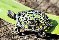Коллекционная скульптура,Черепаха! Миниатюра! Серебро!      xx 77296