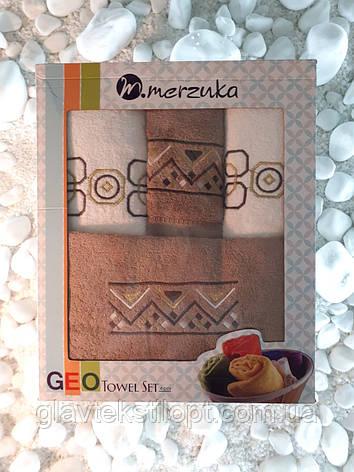 Подарунковий набір рушників Merzuka Туреччина (4 шт), фото 2