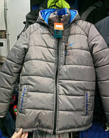 Мужская зимняя куртка Nike из плащевки, куртка Найк копия
