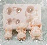 Силиконовый молд на 1-го младенца, 3 размера на выбор, для полимерной глины, мастики, эпоксидной смолы, фото 2