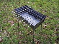 Складной мангал чемодан (10 шампуров) толщина стали 2 мм, для похода или дачи