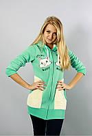 Женская спортивная куртка-толстовка