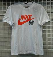 Мужская белая футболка Найк  копия