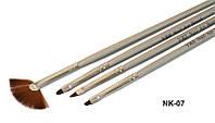 Набор кистей с серебряной ручкой Yre Nk-07