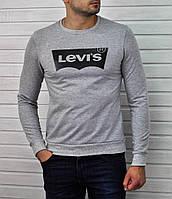 Свитшот серый Levis logo   Кофта стильная, фото 1
