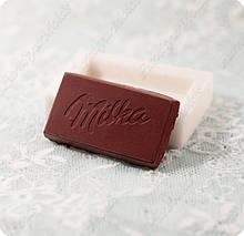"""Силиконовый молд на кусочек шоколада """"Мiлка"""", для полимерной глины, мастики, эпоксидной смолы"""