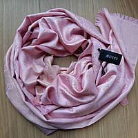 Палантин Gucci люрекс розовая пудра
