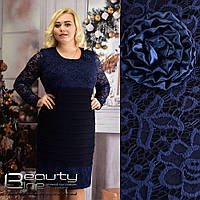 Праздничное повседневное платье гипюр для стильной леди большого размера Beauty 52,54,56,58