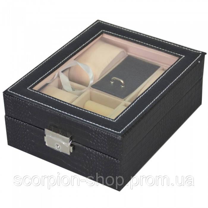 9fed8cfbe7c6 Шкатулка для часов и украшений (20 15 8 см) кожзам, цена 521 грн ...