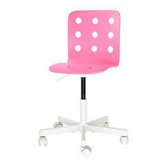 Детский стул для письменного стола IKEA JULES розовый белый 892.077.14