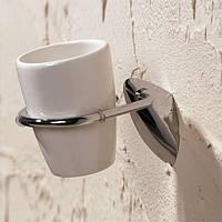 Стакан керамический навесной для зубных щеток Napoli