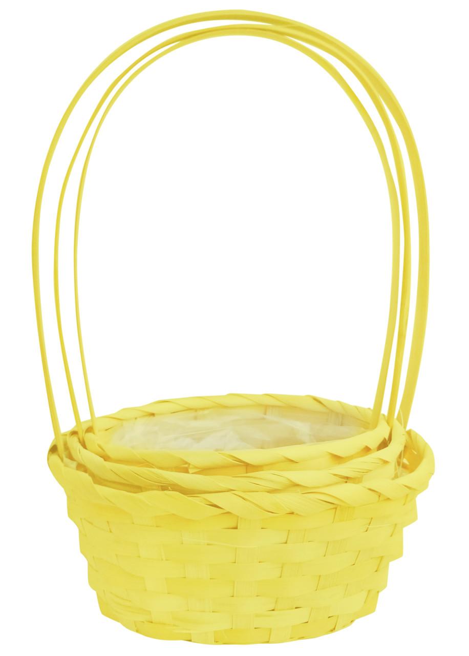 Корзина декоративная желтая 32 х 30 см,  набор 3 шт
