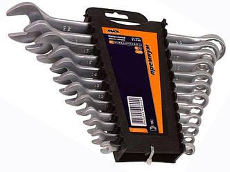 Набор ключей рожково-накидных CRV сатин 6шт (8-17мм) усиленной прочности PREMIUM MIOL 51-700