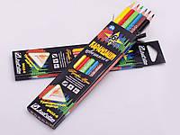 Набор карандашей трехгранных, 6 цветов