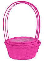 Корзина декоративная розовая 32 х 30 см,  набор 3 шт