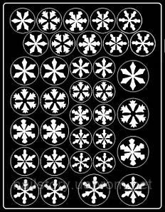 Новогодний трафарет для аэропуффинга и Deep дизайна ногтей №37