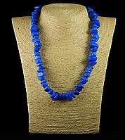 Крошка из синего агата крупная, 45см