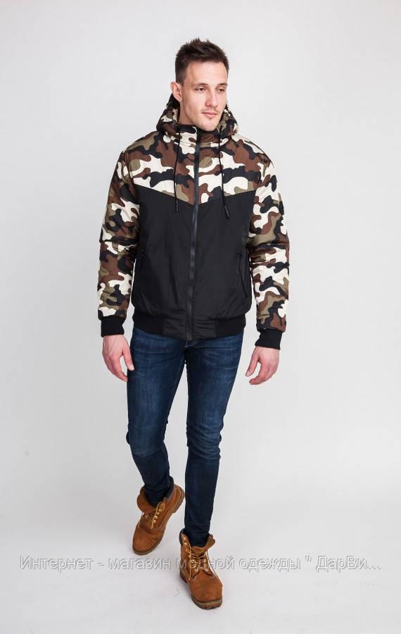 Куртка мужская камуфляжная осень -весна - Интернет - магазин модной одежды