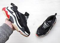 Женские кроссовки Balenciaga Triple S Black (топ качество)