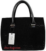 Черная каркасная женская  сумка