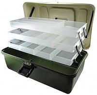 Ящик рыбацкий для снастей органайзер на 3 полки
